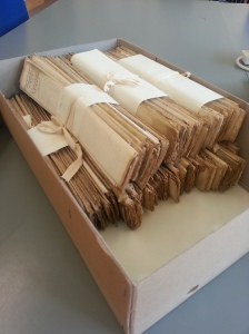 Depositions to the courts - basically witness statements. I had to copy one of these bundles, and it took me the best part of a couple of hours. Ouch!
