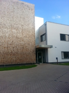 The outside of the building
