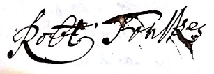 Robert Foulkes Signature